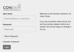 Conexim Fastrak Portal